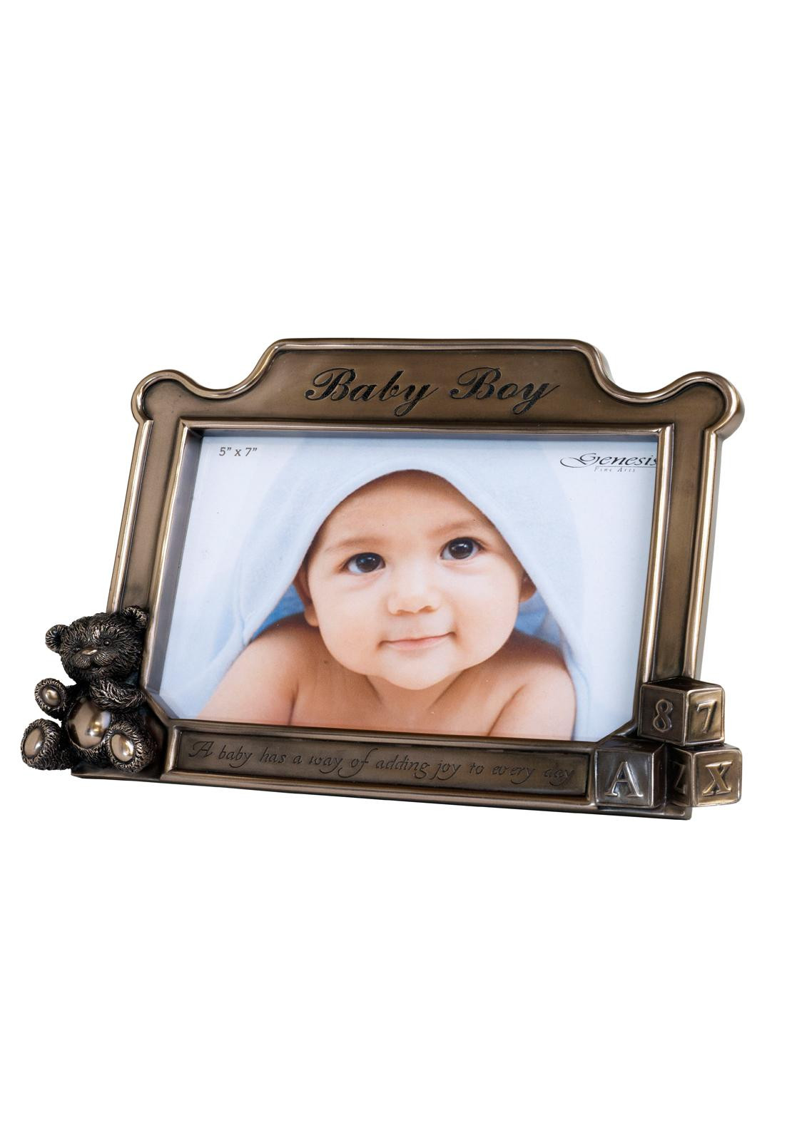 Genesis Baby Boy Bronze Photo Frame, 5 x 7 inches