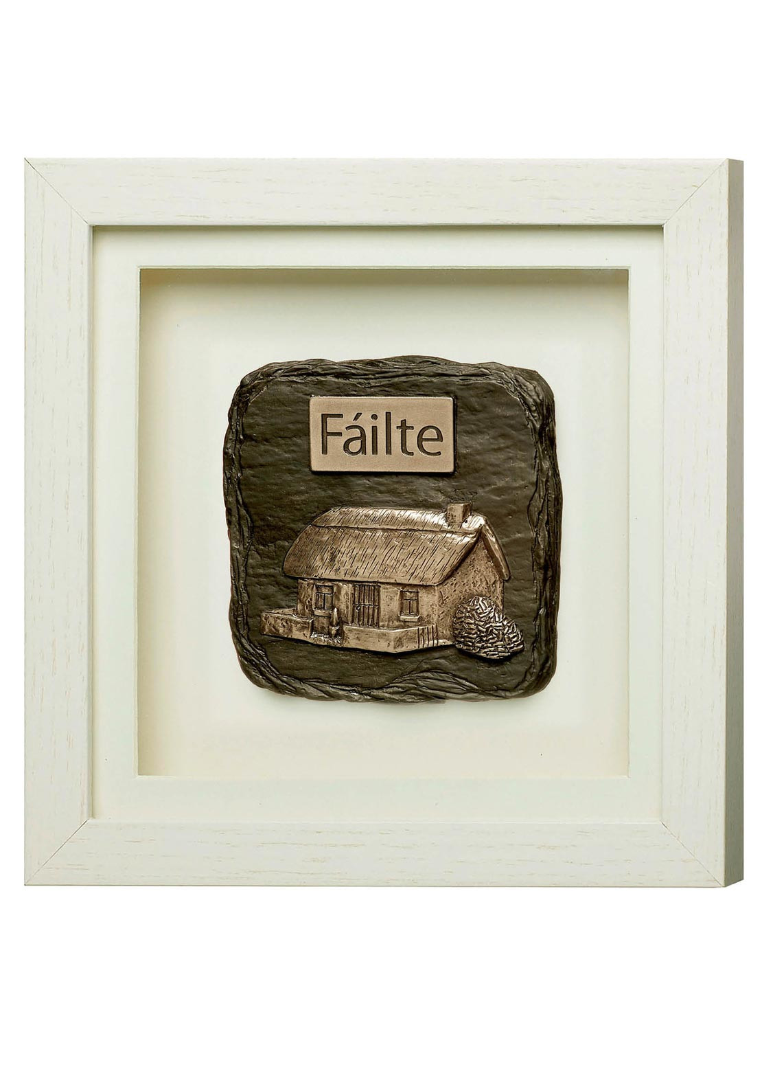 Genesis Failte Frame Ornament, White