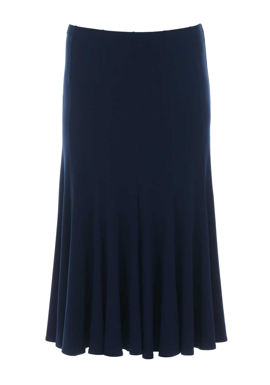 georgede fit and flare midi skirt navy mcelhinneys