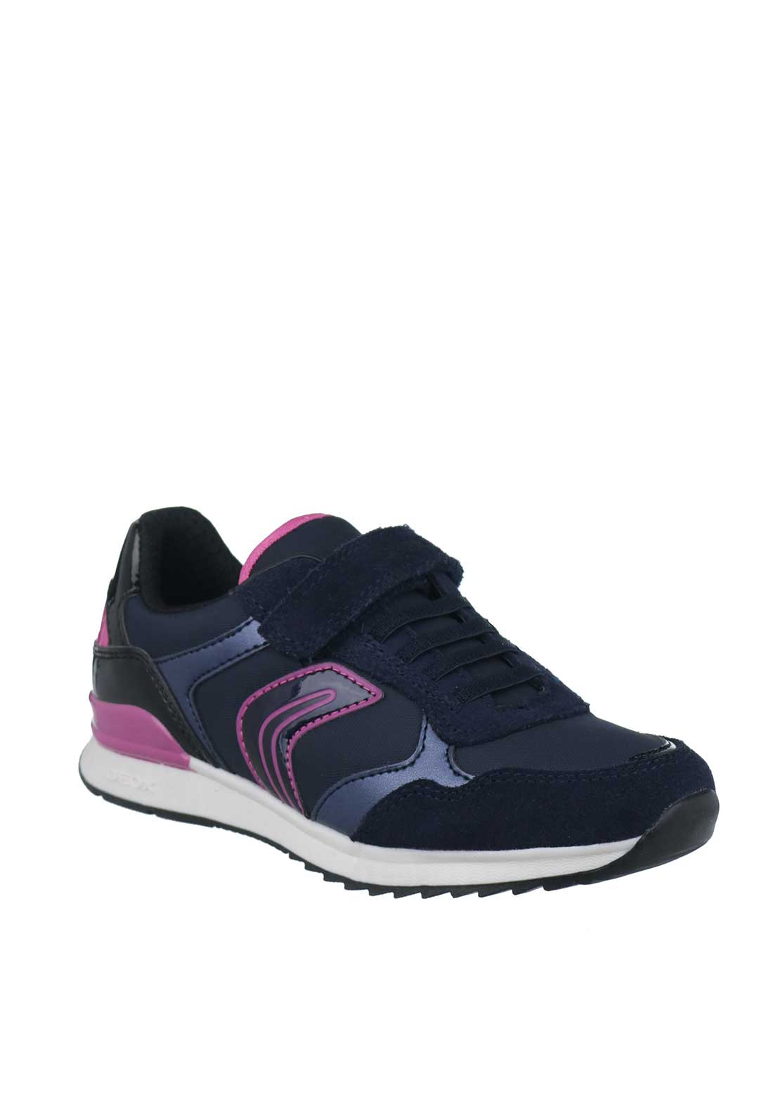 Geox Girls Velcro Strap Trainers, Navy