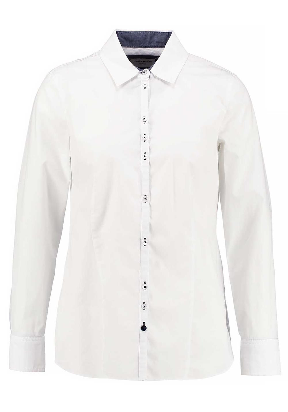 Gerry Weber Long Sleeve Cotton Blouse, White