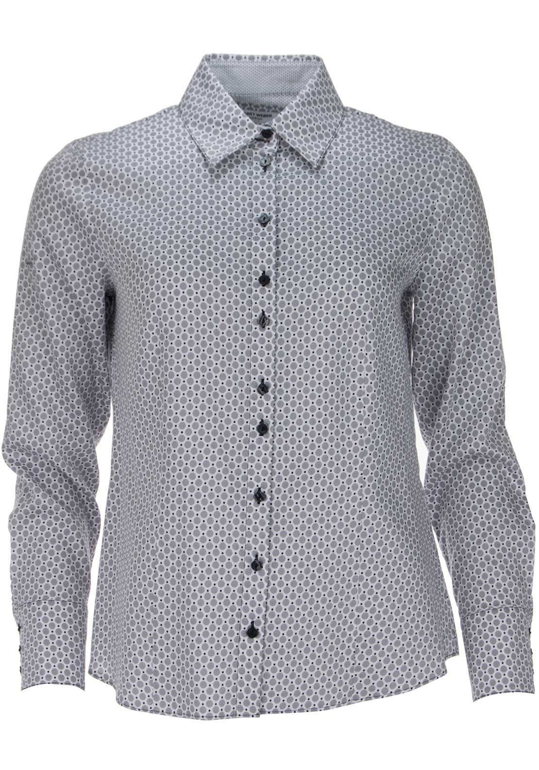 Gerry Weber Circle Print Long Sleeve Blouse, Grey Multi