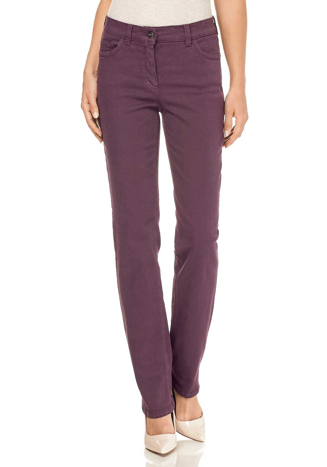 Gerry Weber Romy Straight Short Leg Jeans, Purple