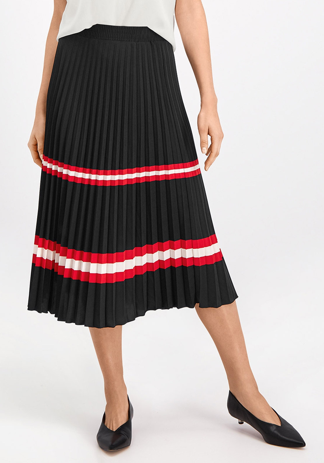 3e22509069 Gerry Weber Stripe Pleated Midi Skirt