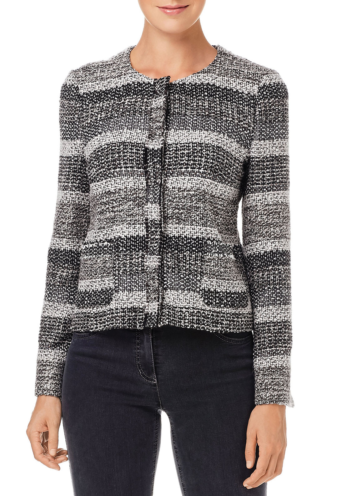 Gerry Weber Wool Blend Boucle Jacket, Multi-Coloured