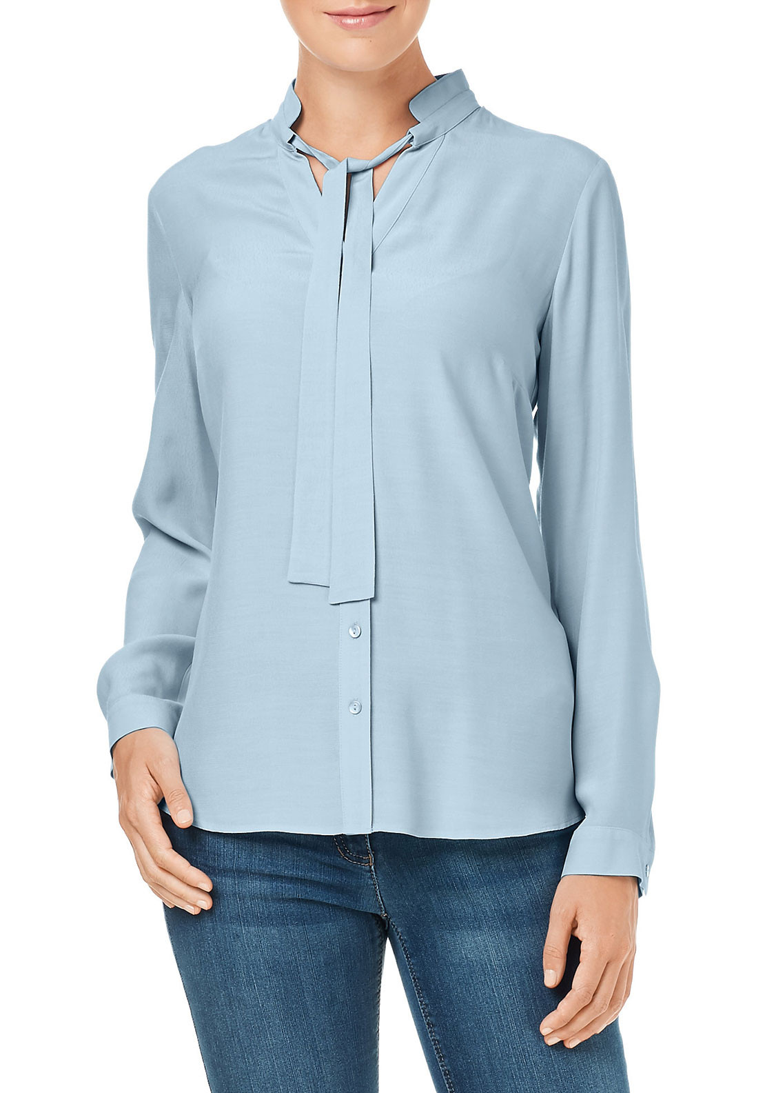 Gerry Weber Pussybow Blouse, Pale Blue