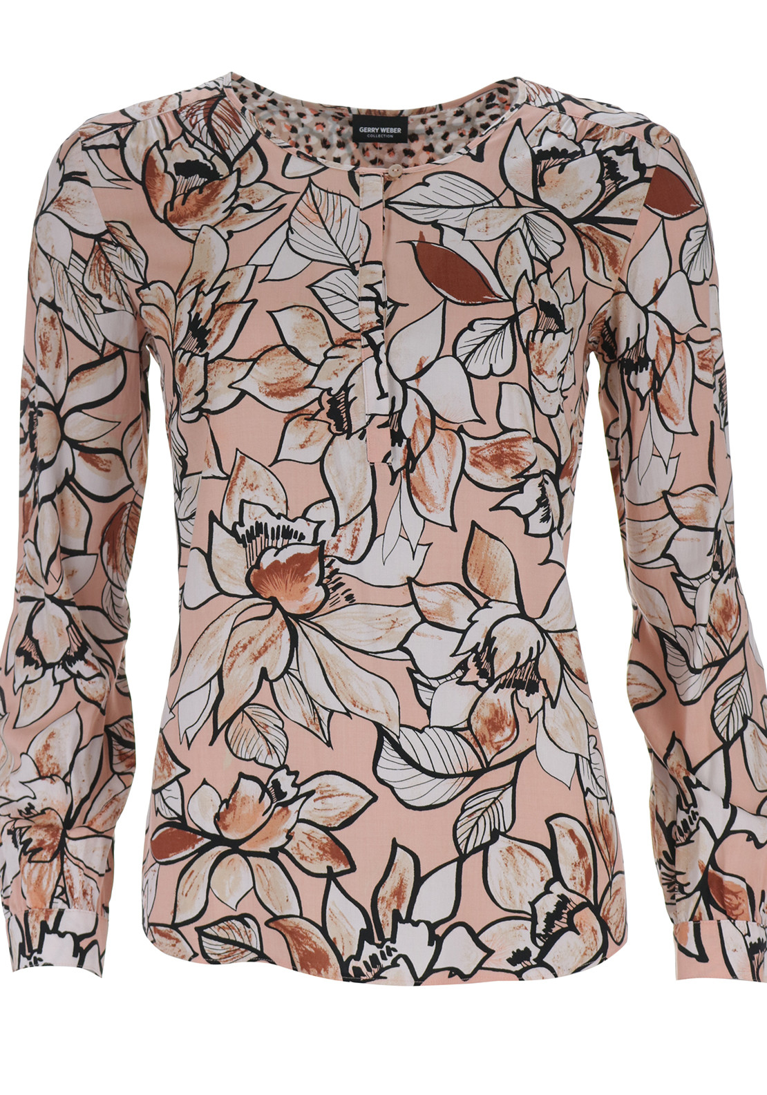 Gerry Weber Leaf Print Blouse, Peach