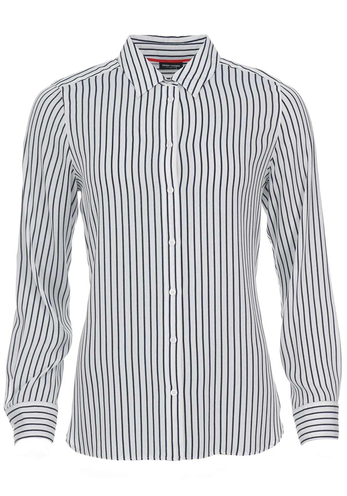 Gerry Weber Striped Blouse, White & Navy