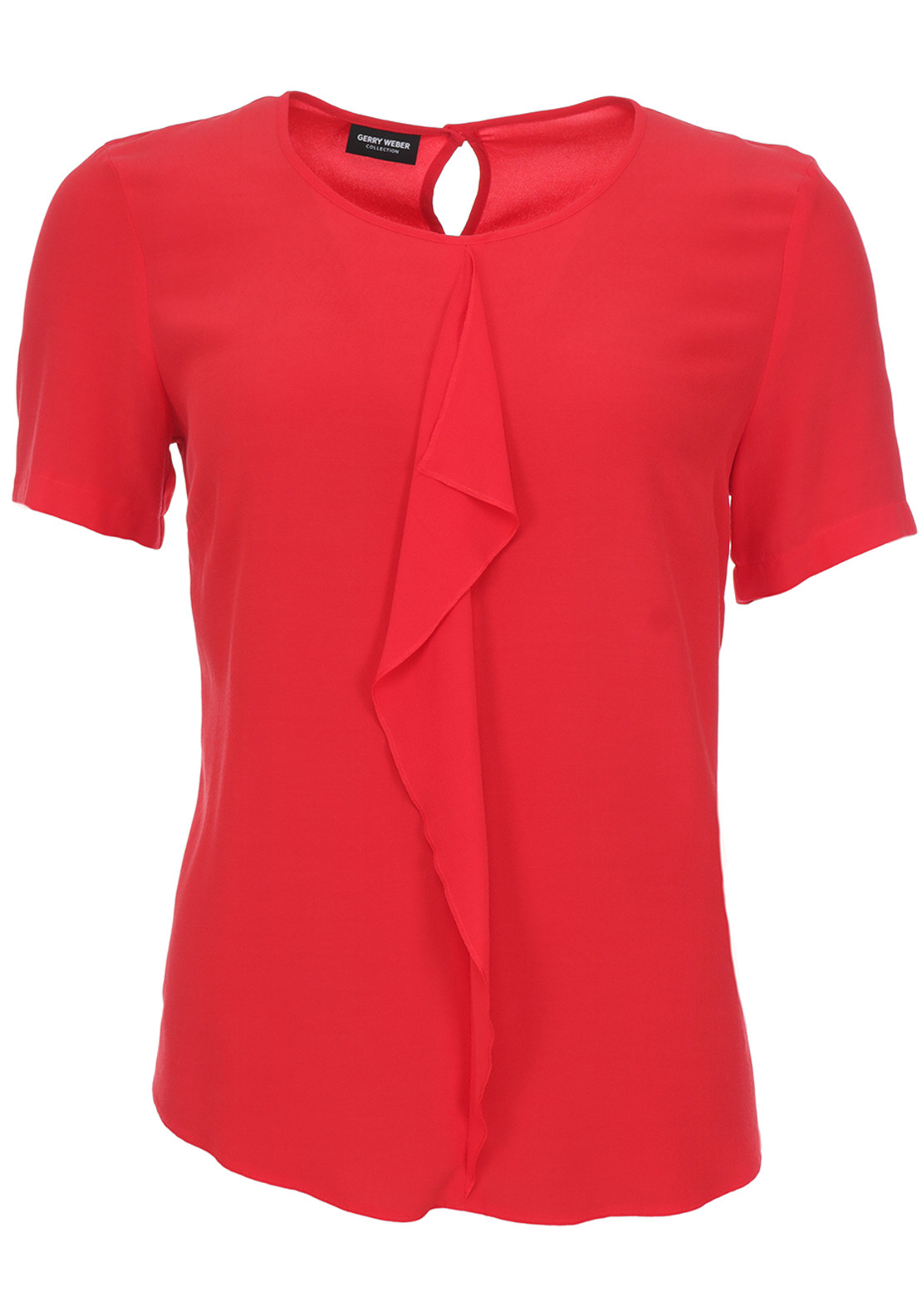 Gerry Weber Ruffle Trim Crepe Top, Red