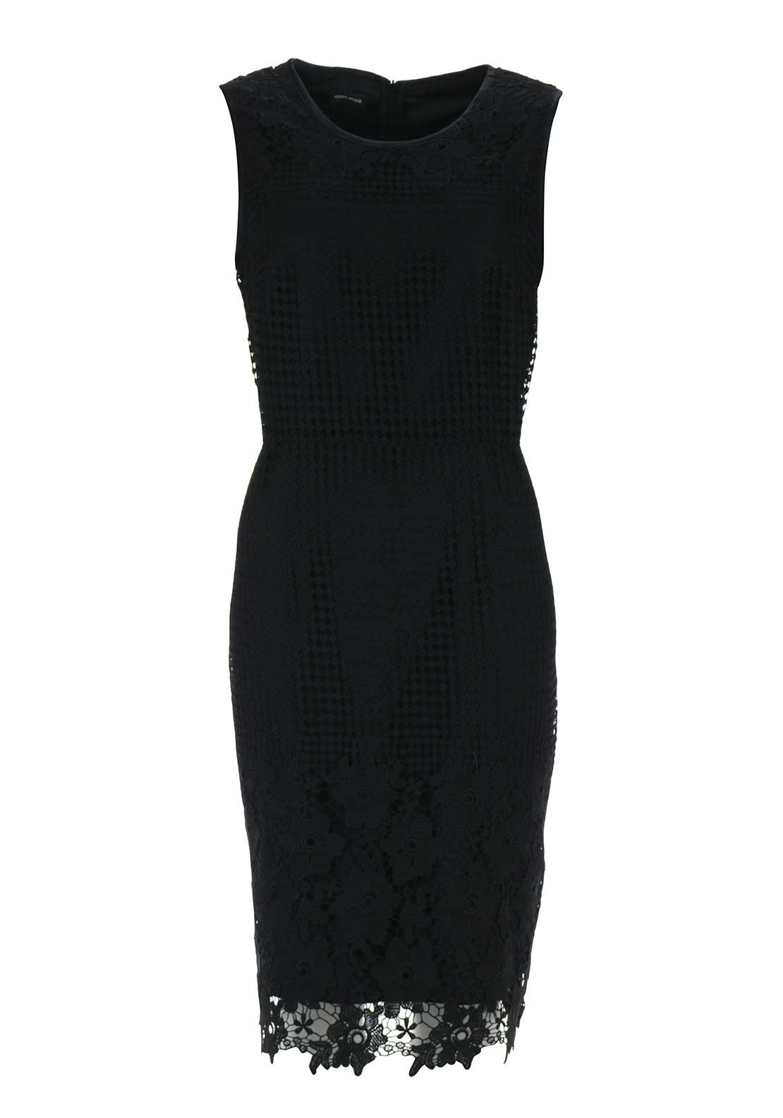 Gerry Weber Lace Overlay Pencil Dress, Black
