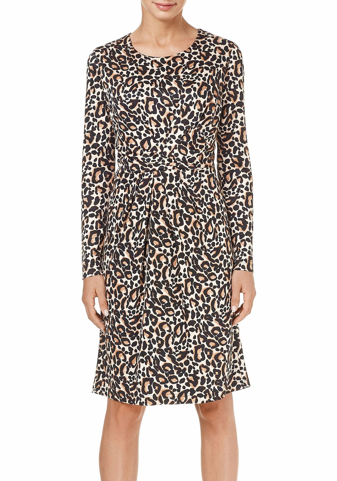 Gerry Weber Animal Print Dress, Beige & Black