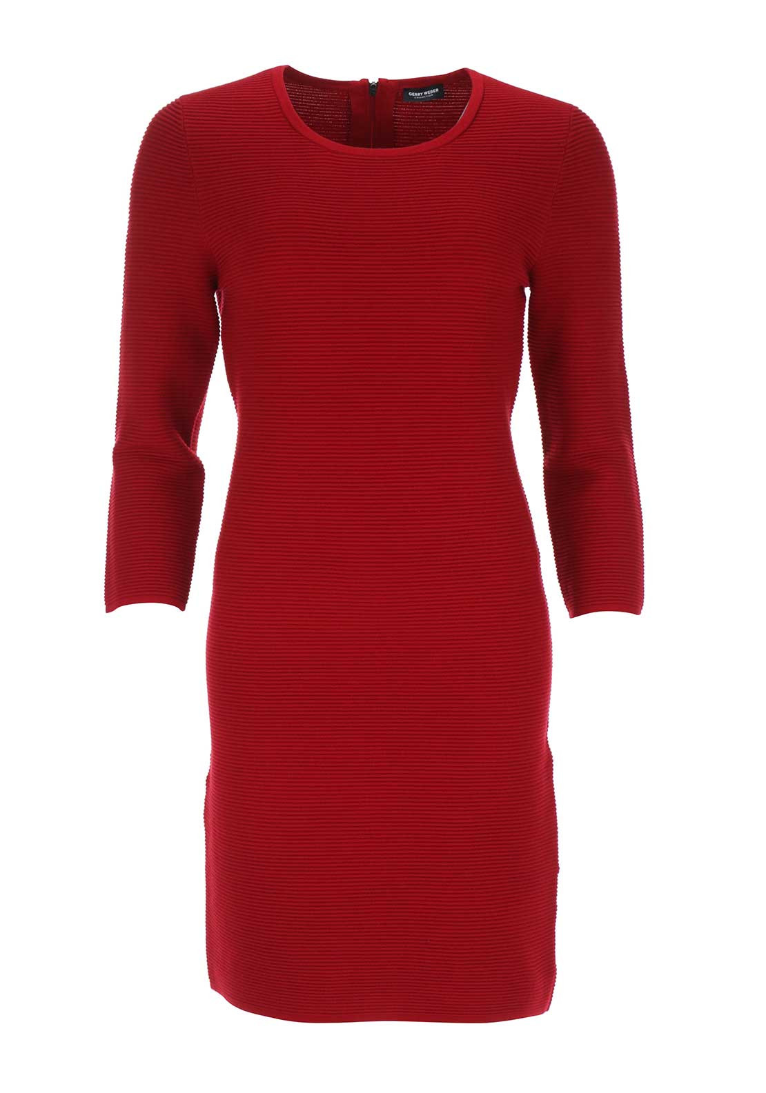 Gerry Weber Ribbed Straight Jersey Dress, Red