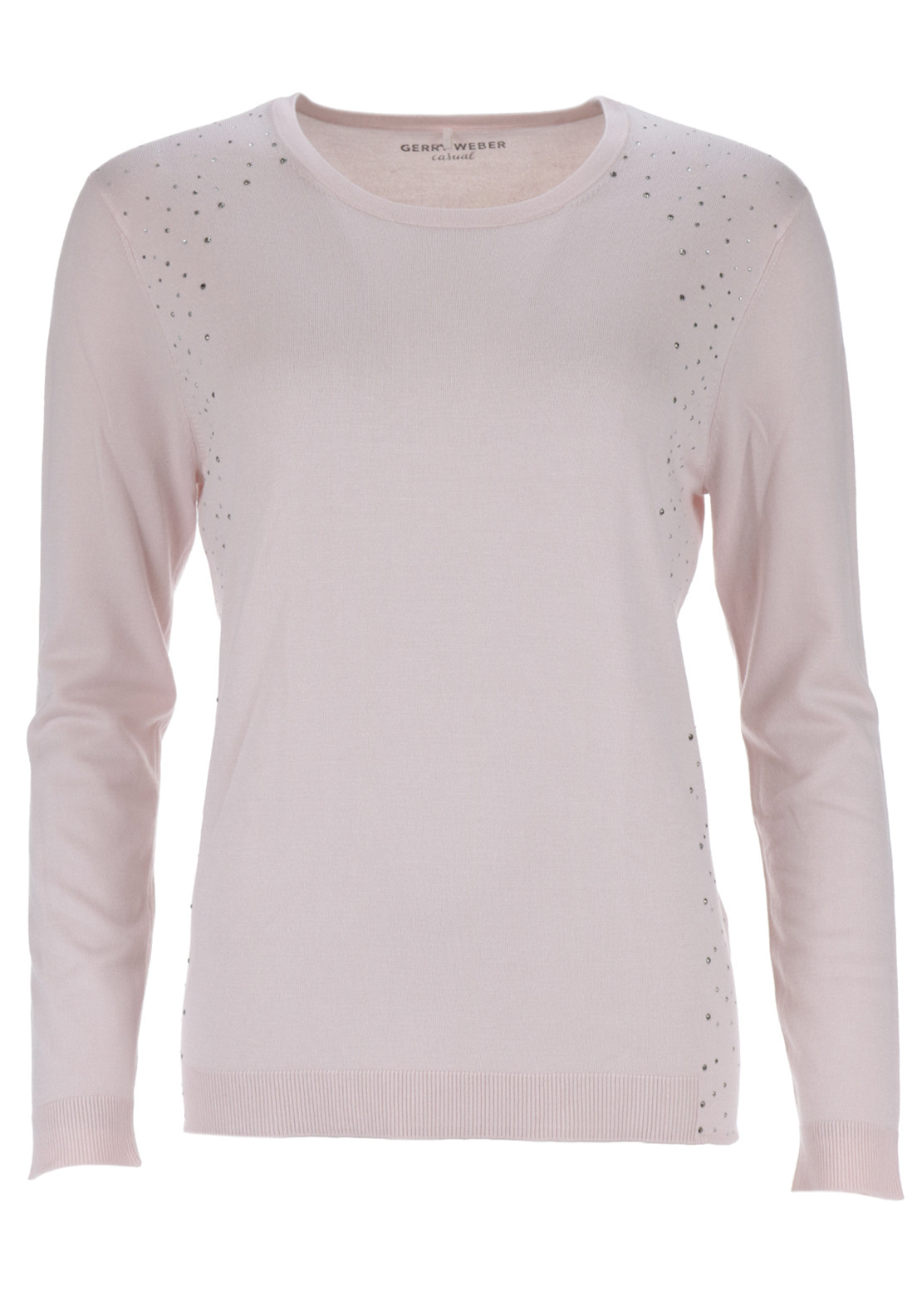 Gerry Weber Fine Knit Jumper with Studded detail, Pink
