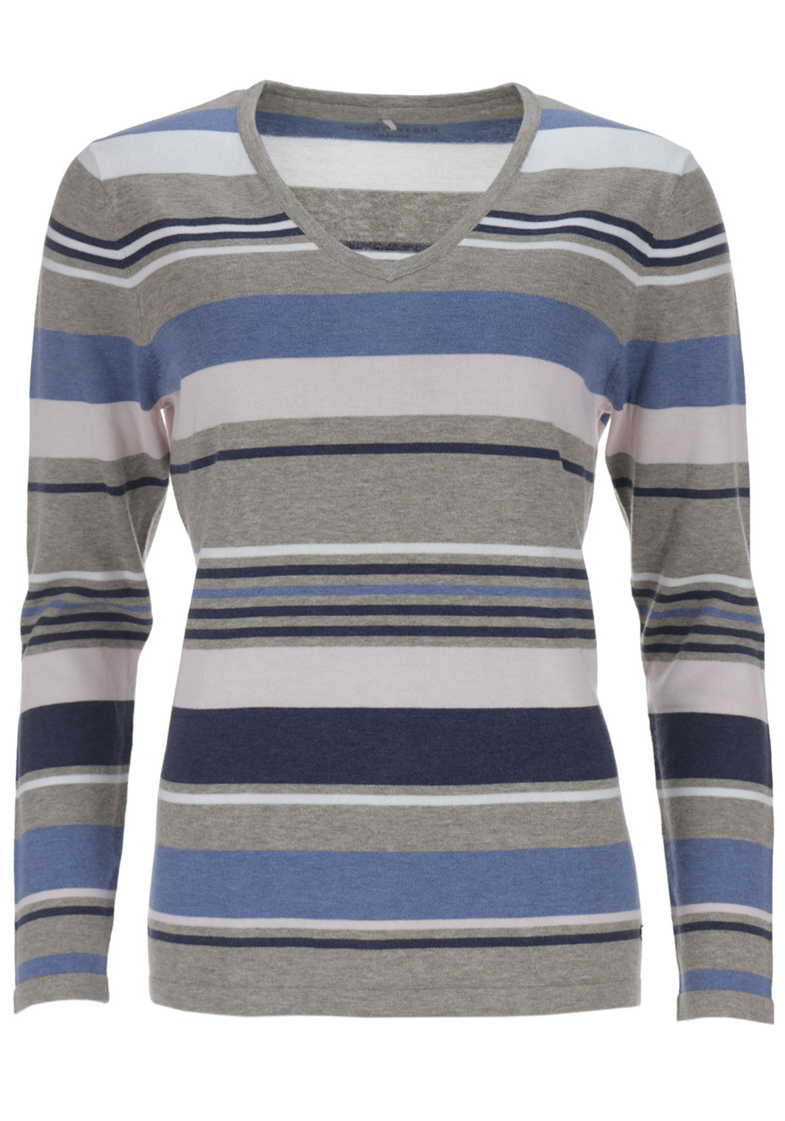 Gerry Weber Fine Knit striped Jumper, Multi-coloured