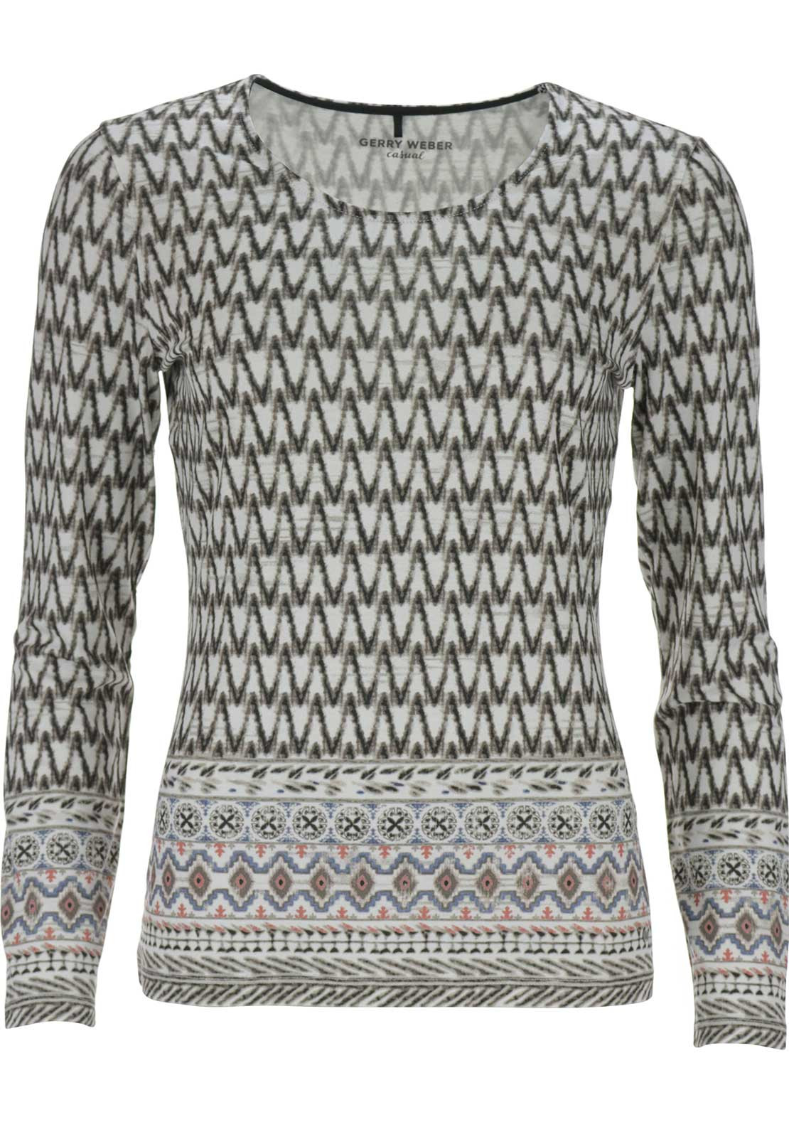 Gerry Weber Zig Zag Top, Multi-coloured