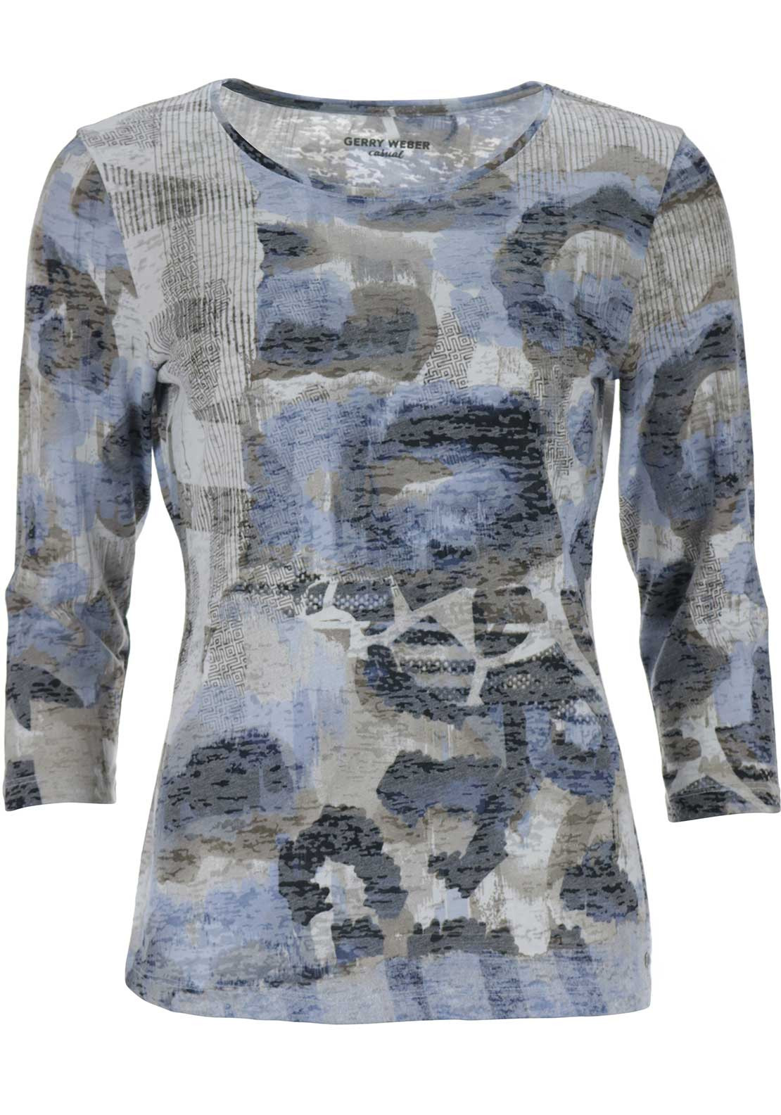 Gerry Weber Printed Top, Multi-coloured