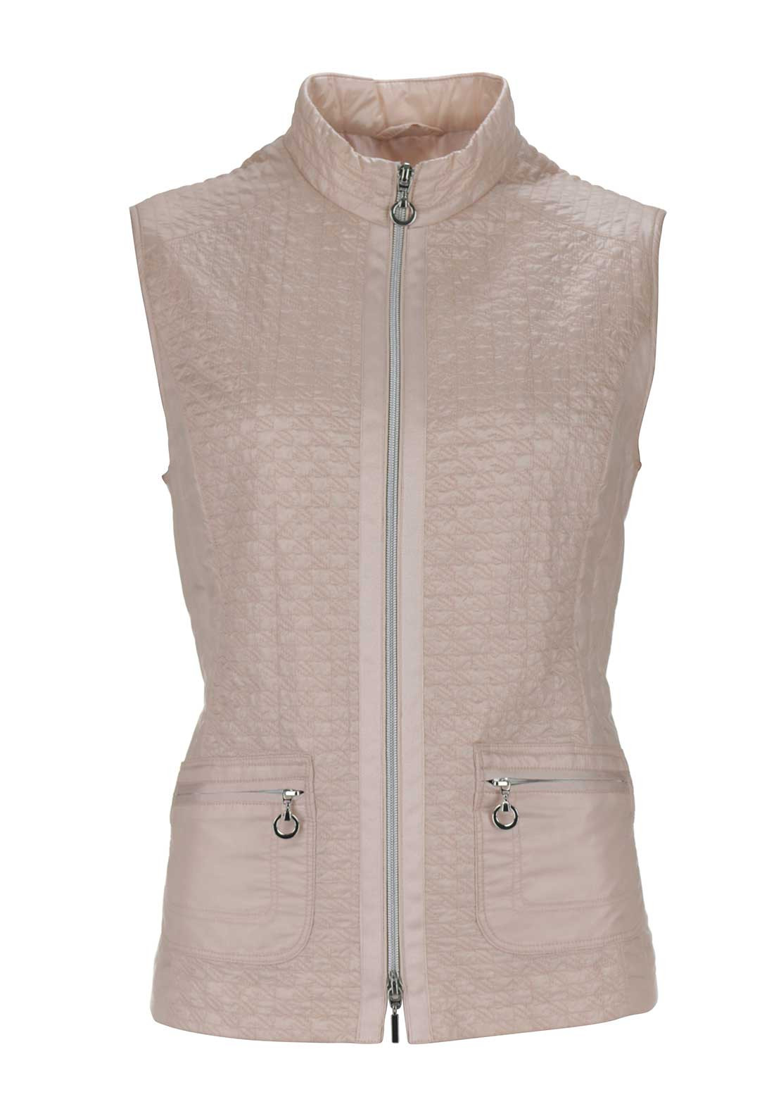 Gerry Weber Quilted Padded Gilet, Pink