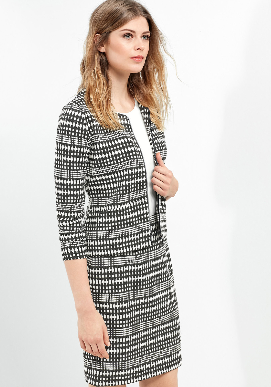 Gerry Weber Ethnic Print Jacket, Black & White