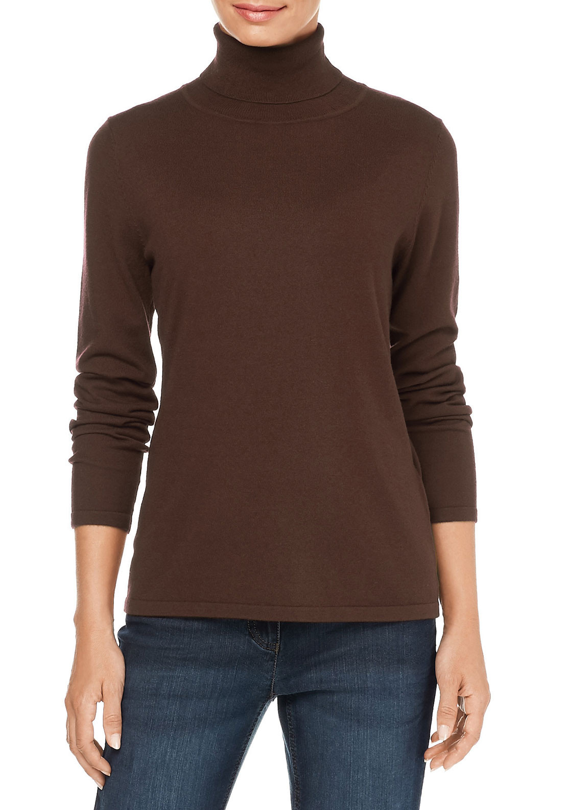 Gerry Weber Polo Neck Sweater, Light Brown