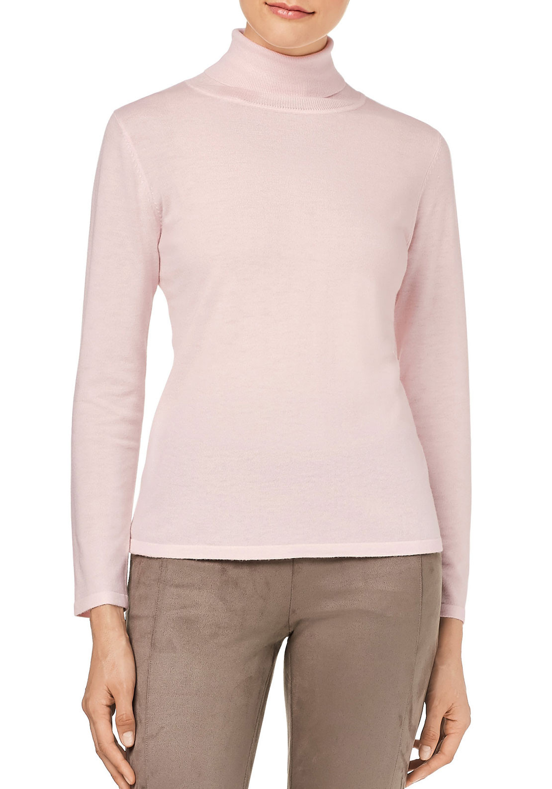 Gerry Weber Polo Neck Sweater, Pale Pink