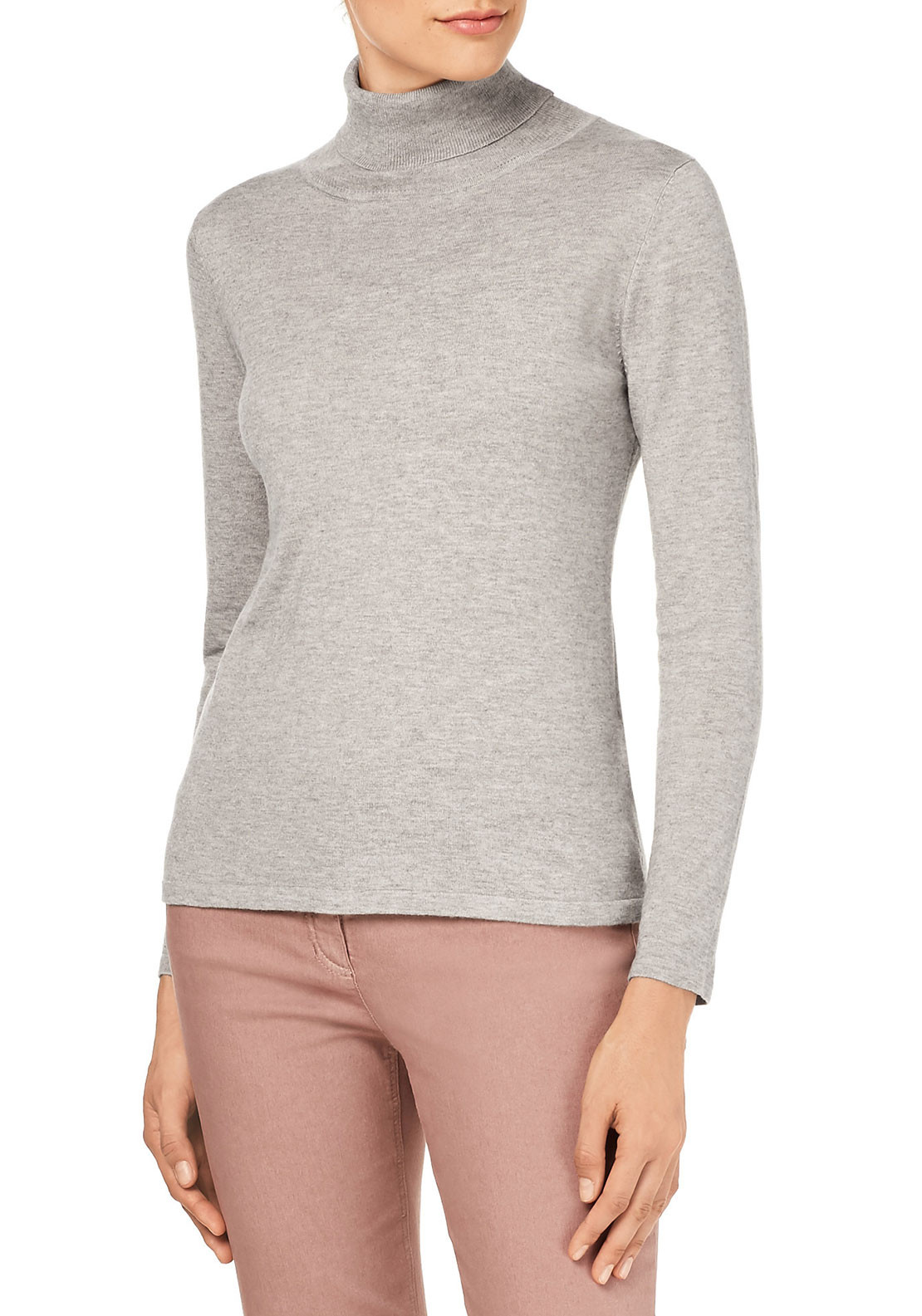 Gerry Weber Polo Neck Sweater, Cream