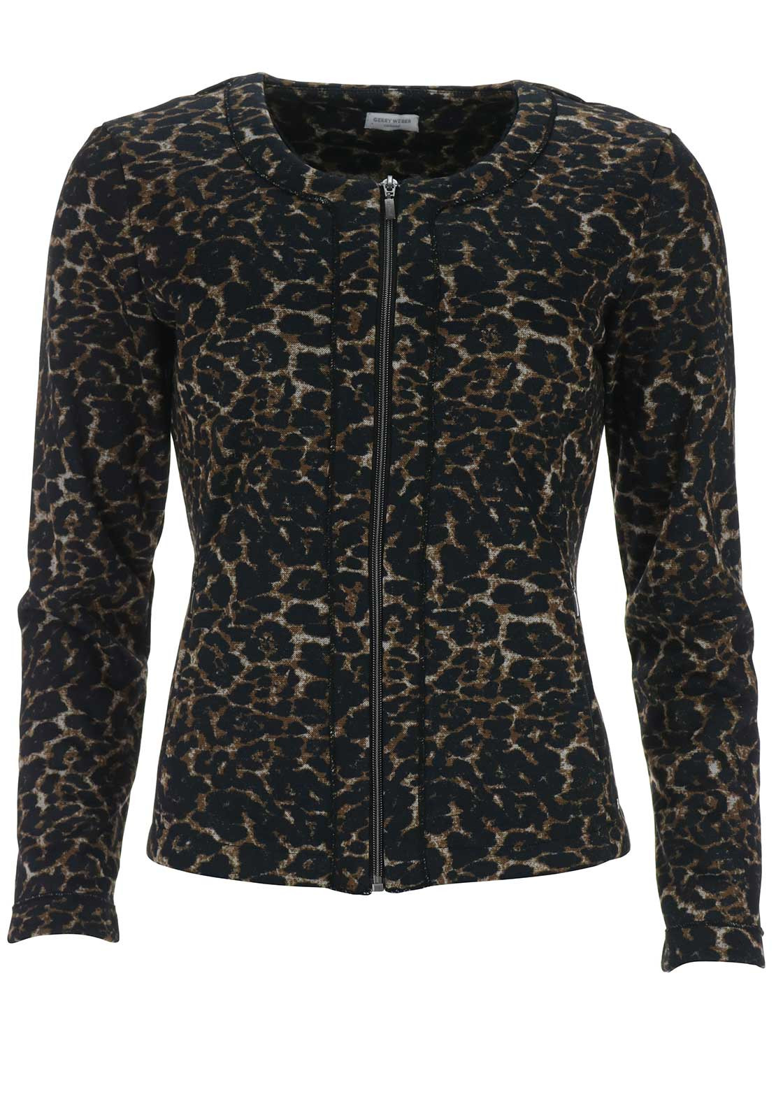 Gerry Weber Animal Print Jacket, Black Multi