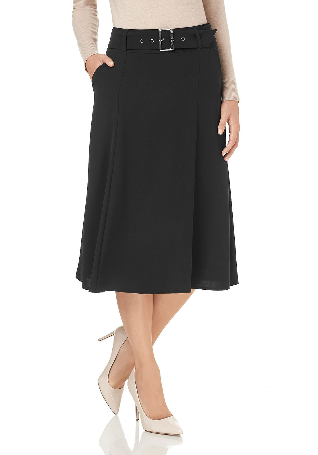 Gerry Weber A-Line Midi Skirt, Black