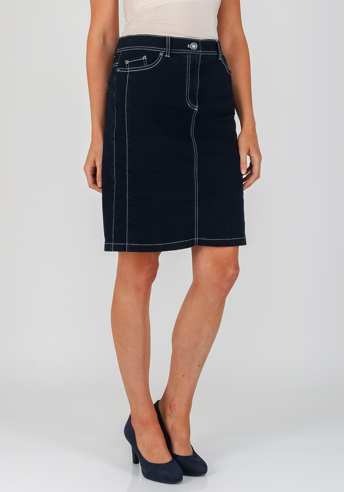 14d82809c3 Gerry Weber Denim Straight Skirt, Blue. Be the first to review this product