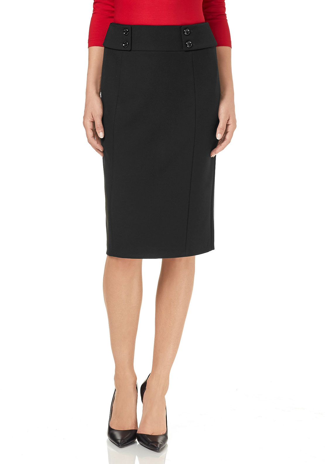 Gerry Weber Crepe Pencil Skirt, Black
