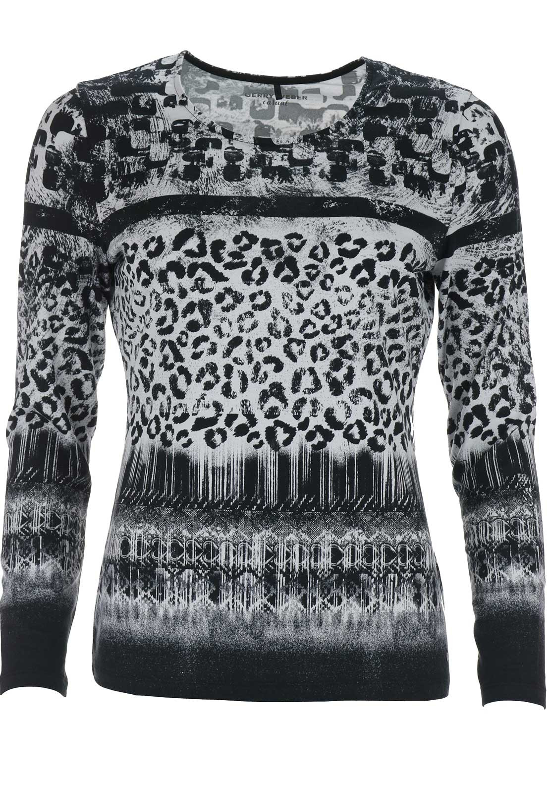 Gerry Weber Animal Print Top, Black and White