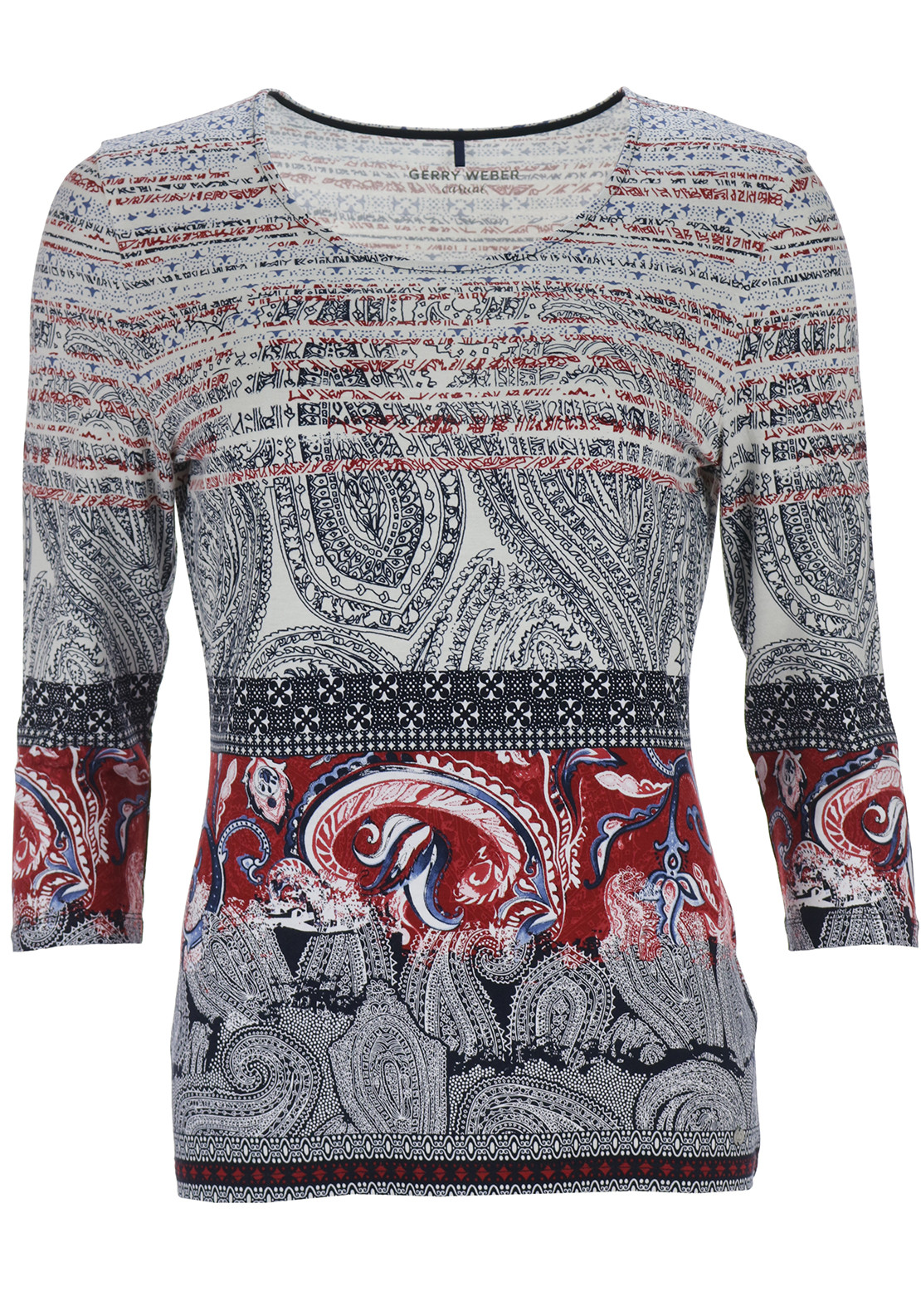 Gerry Weber Paisley Print Top, Multi-Coloured