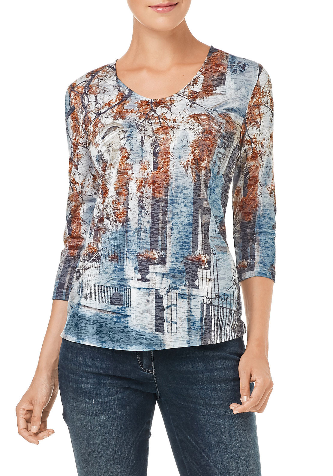 Gerry Weber City Print Top, Multi-Coloured