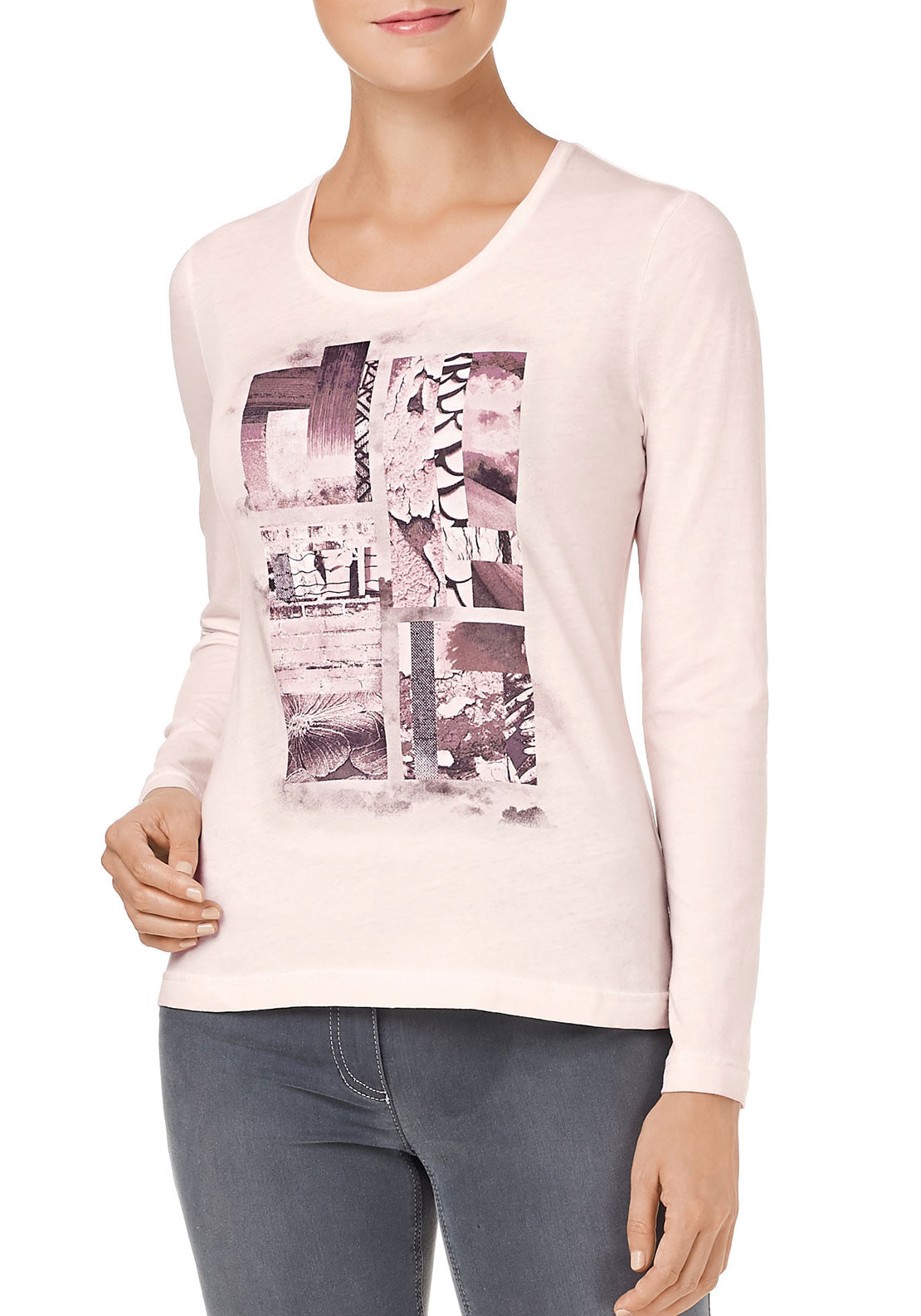 Gerry Weber Photo Print Top, Pink