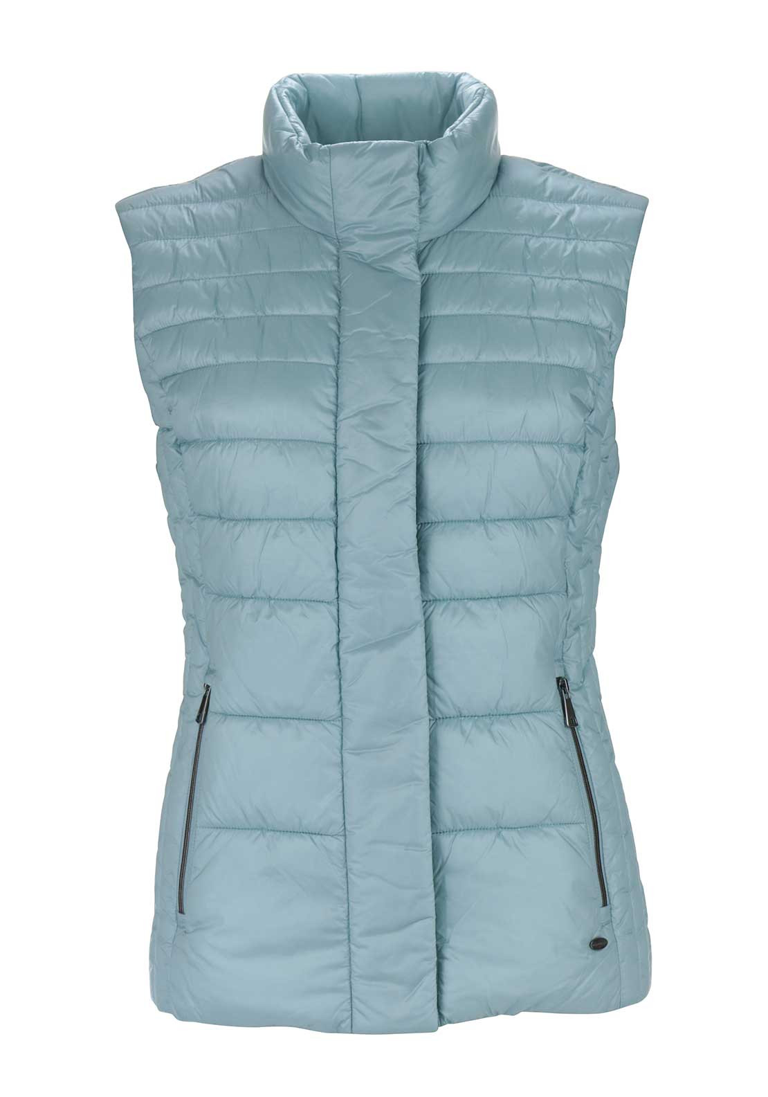 Gerry Weber Fitted Quilted Gilet, Aqua Blue