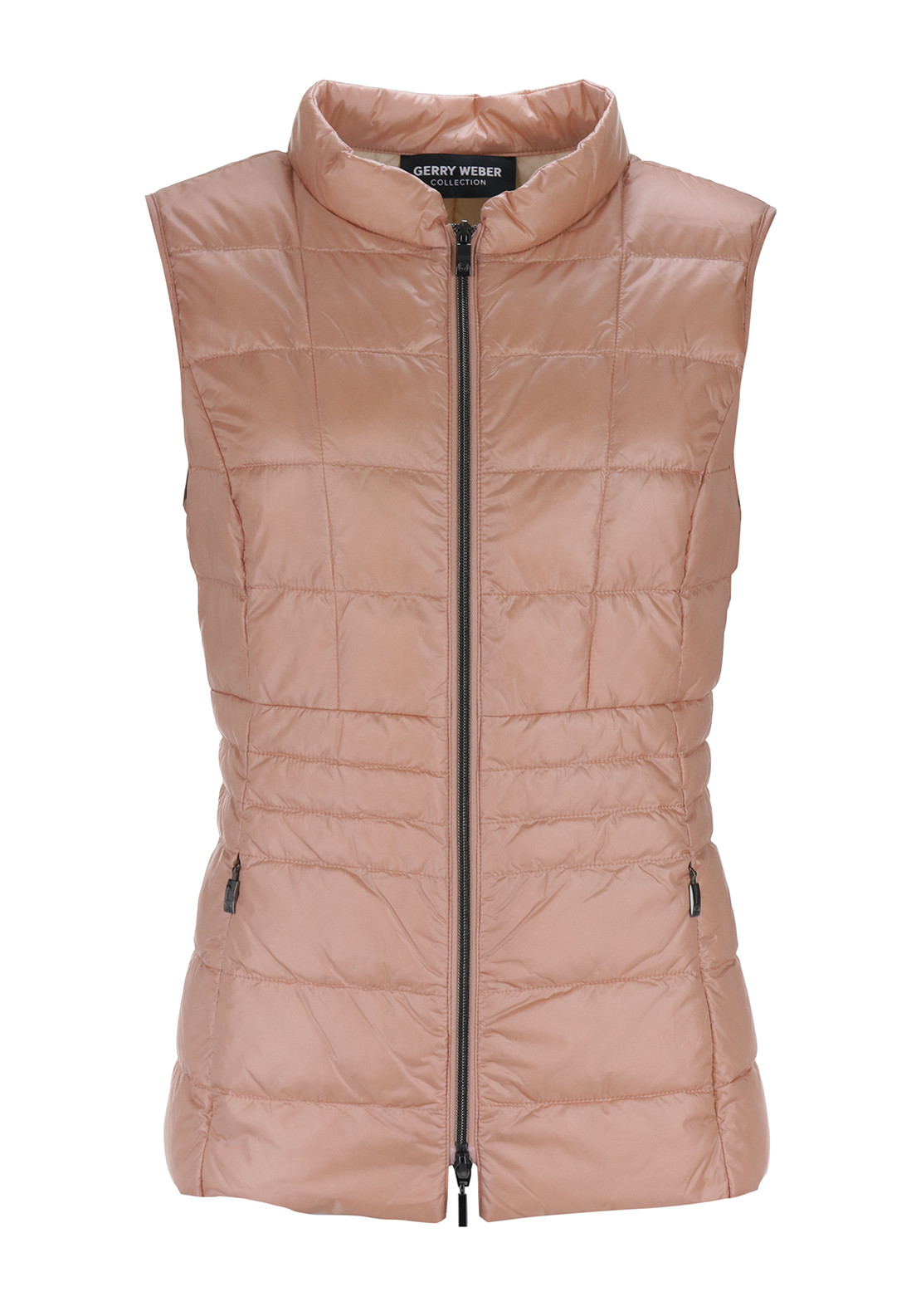 Gerry Weber Down Filled Quilted Gilet, Peach