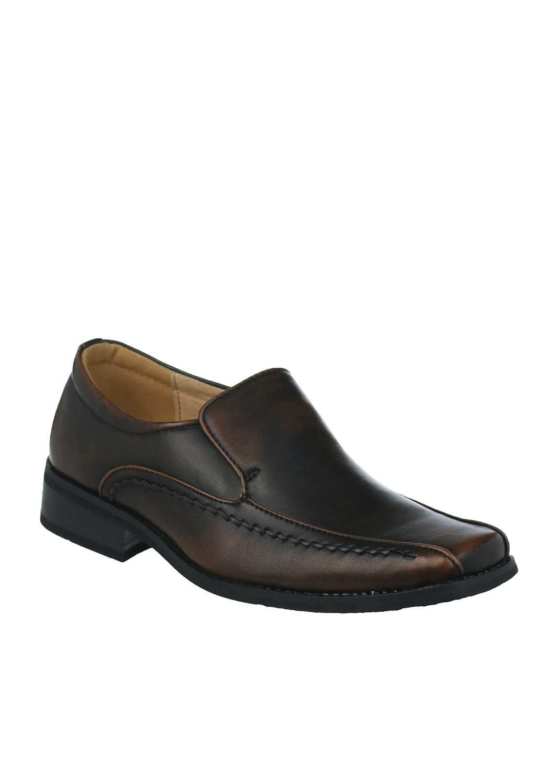 Goor Boys Formal Loafer Shoe, Brown