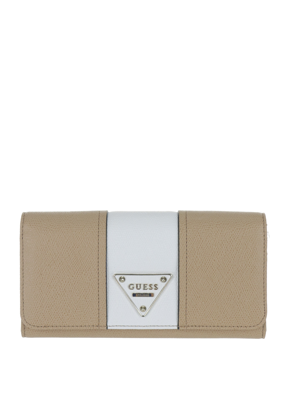 Guess Cooper Flap Large Purse, Tan