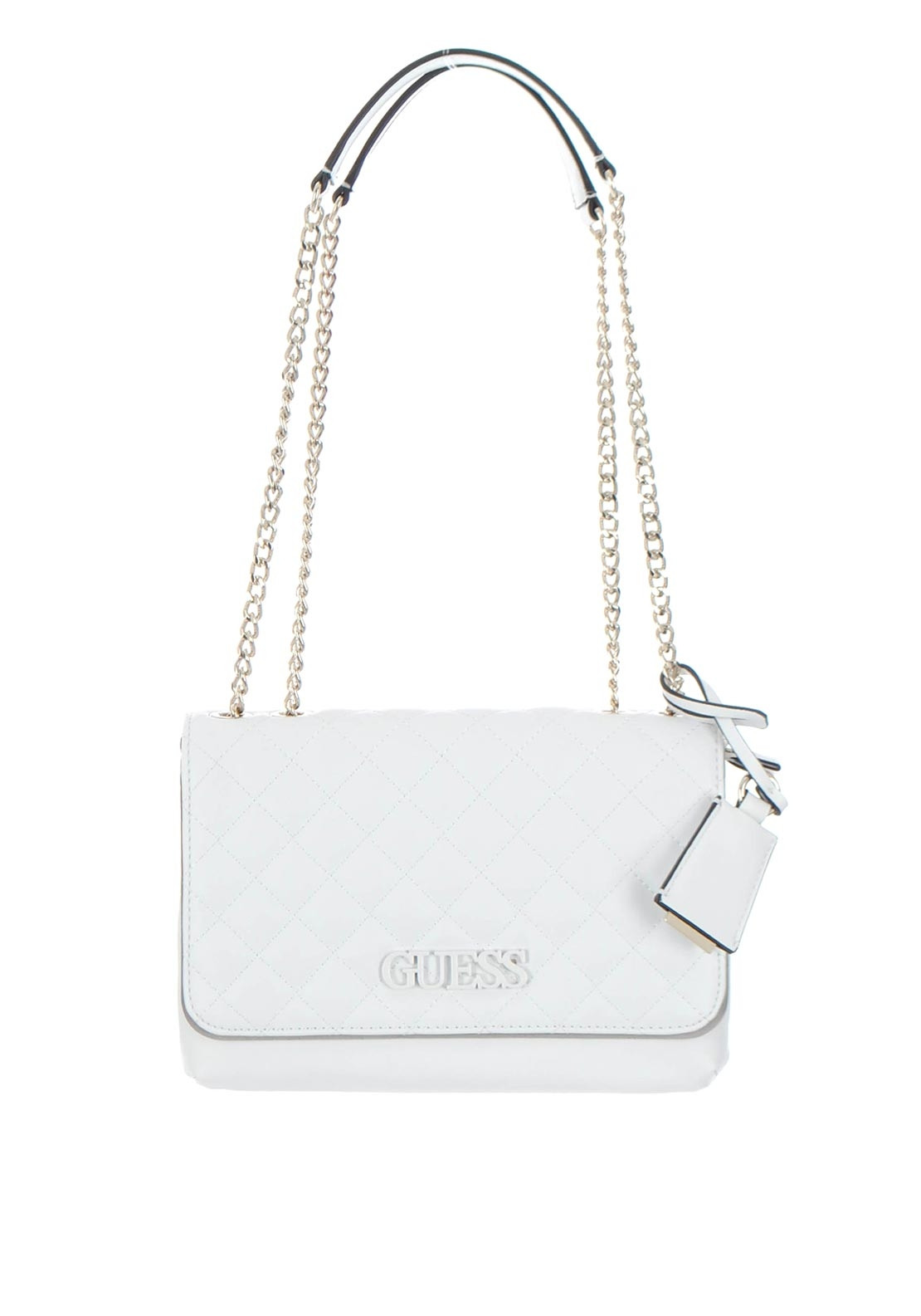 Guess Elliana White Quilted Crossbody Bag