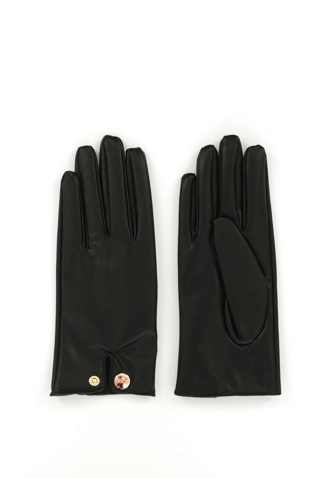 Guess Faux Leather Gloves, Black