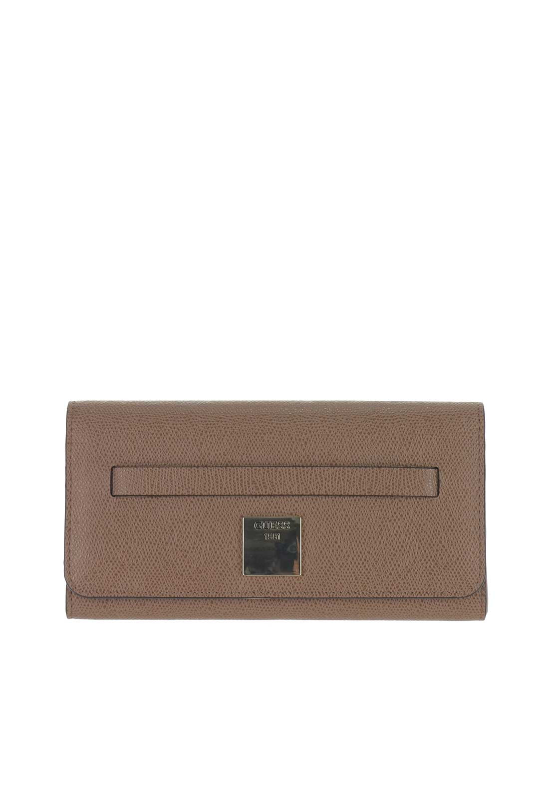 Guess Christy Flap Close Wallet, Brown