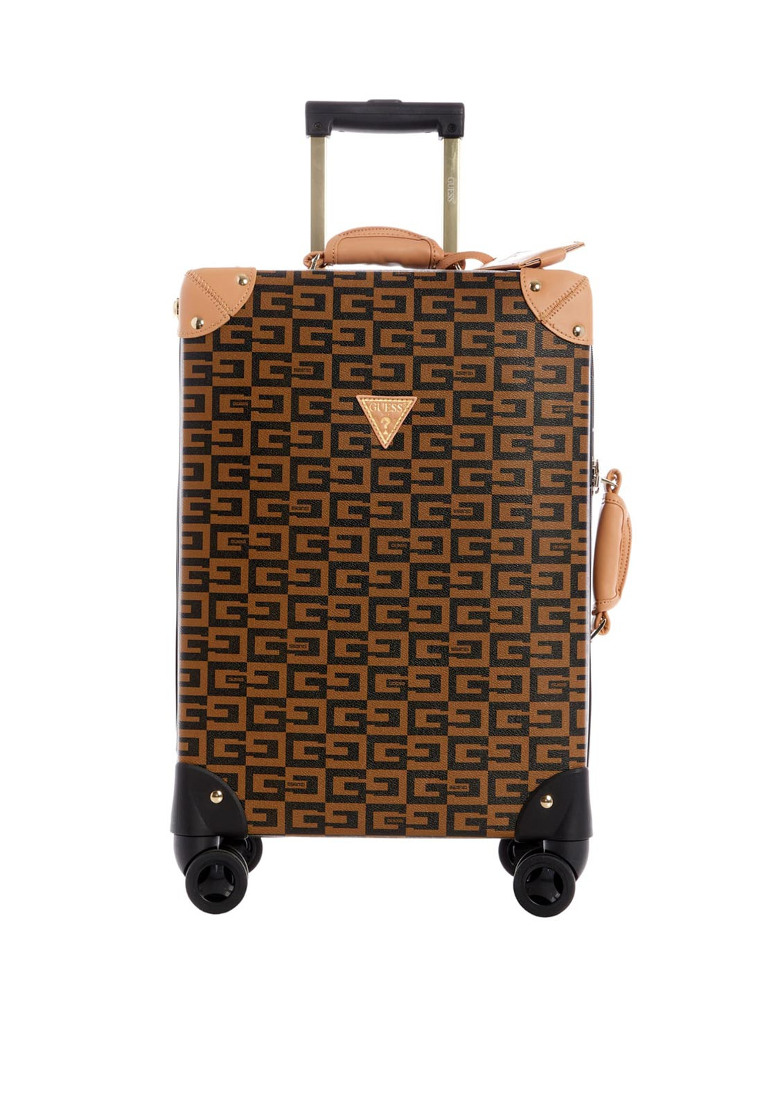 Guess 40th Anniversary Travel Medium 8 Wheel Spinner Suitcase, Brown