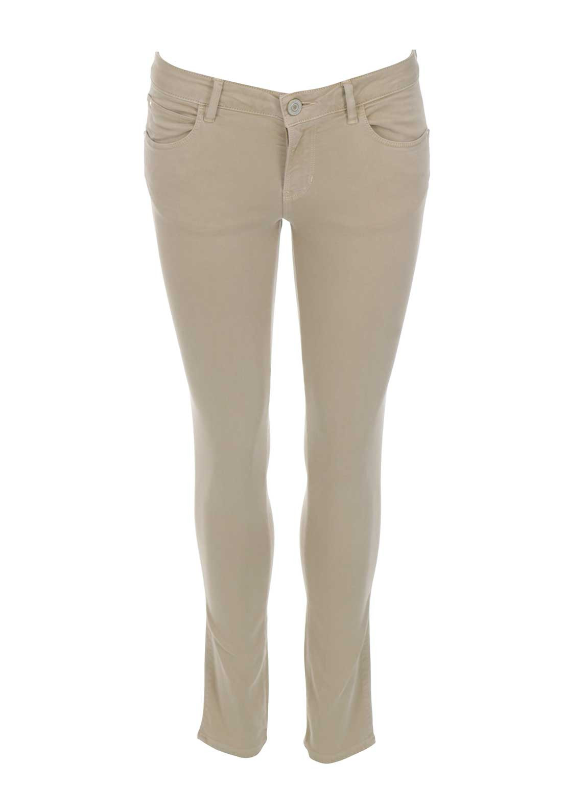 Guess Womens Curve Skinny Jeans, Beige