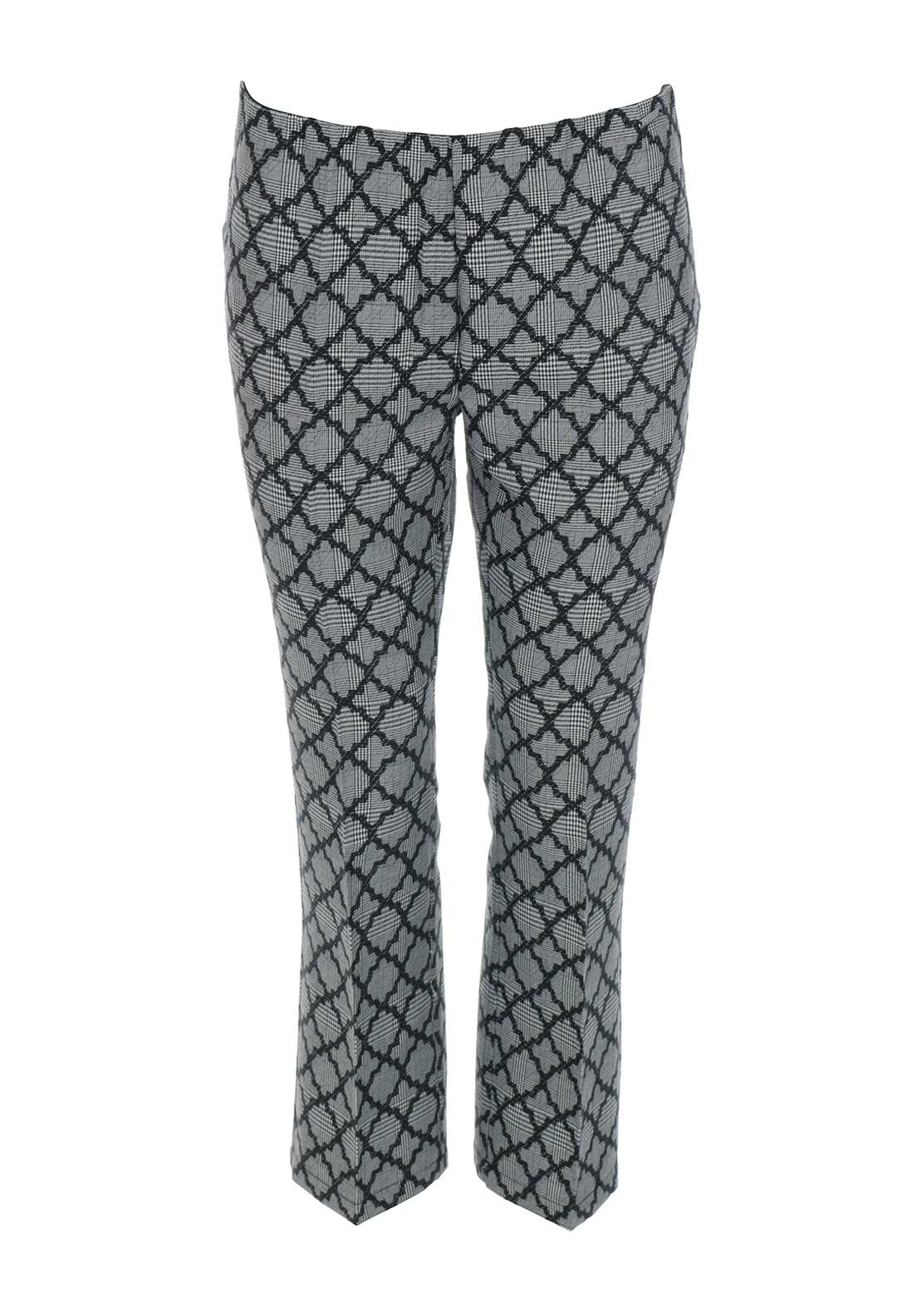 Guess Womens Houndstooth 7/8 Trousers, Grey