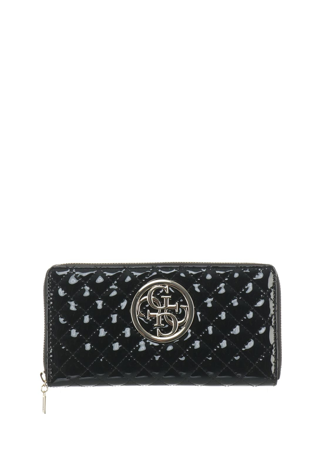 f83d250aeacf Guess Lux Large Wallet, Gloss Black | McElhinneys