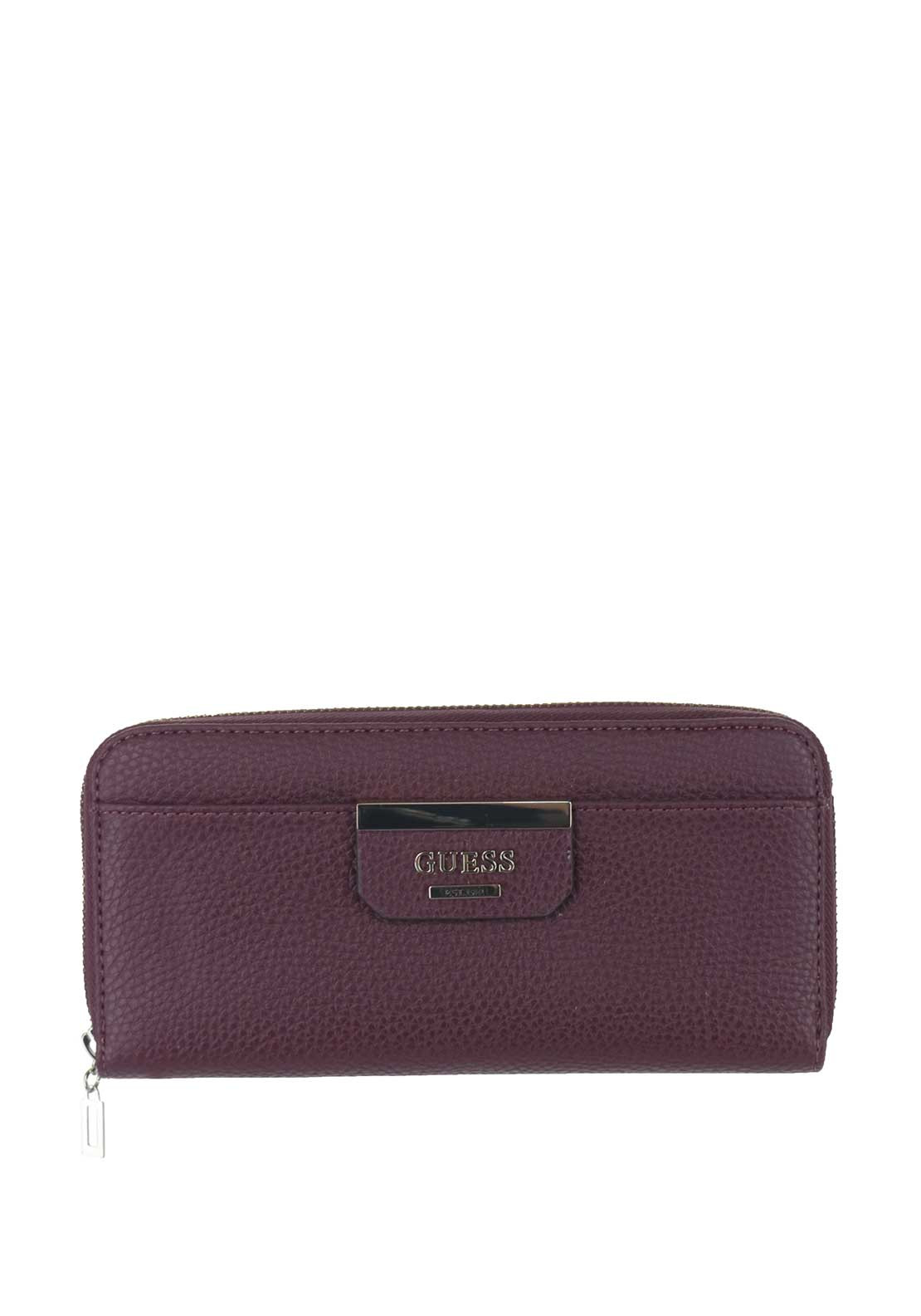 Guess Bobbi SLG Zip Around Purse, Bordeaux Multi