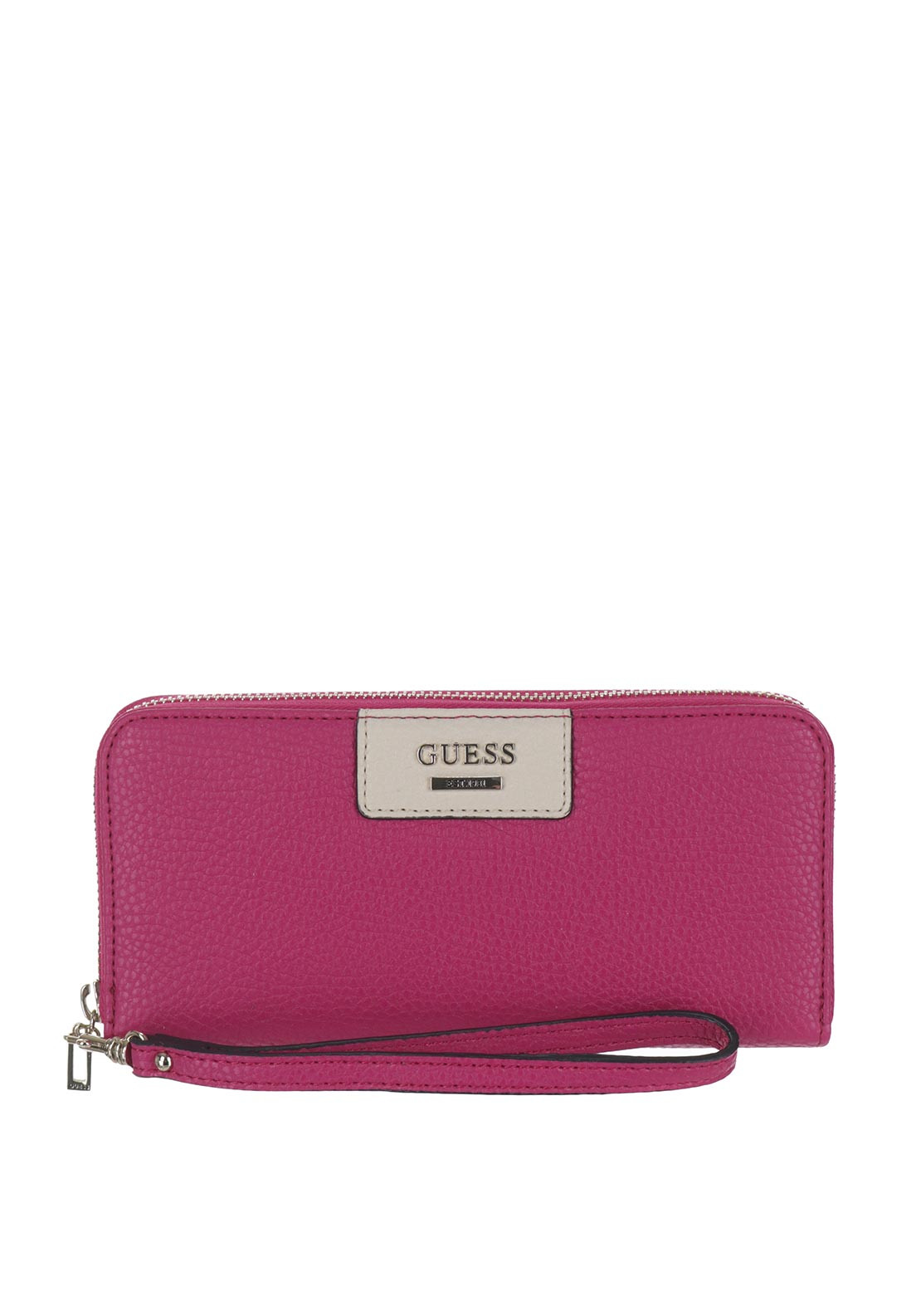 Guess Bobbi Large Wristlet Zip Around Purse, Passion