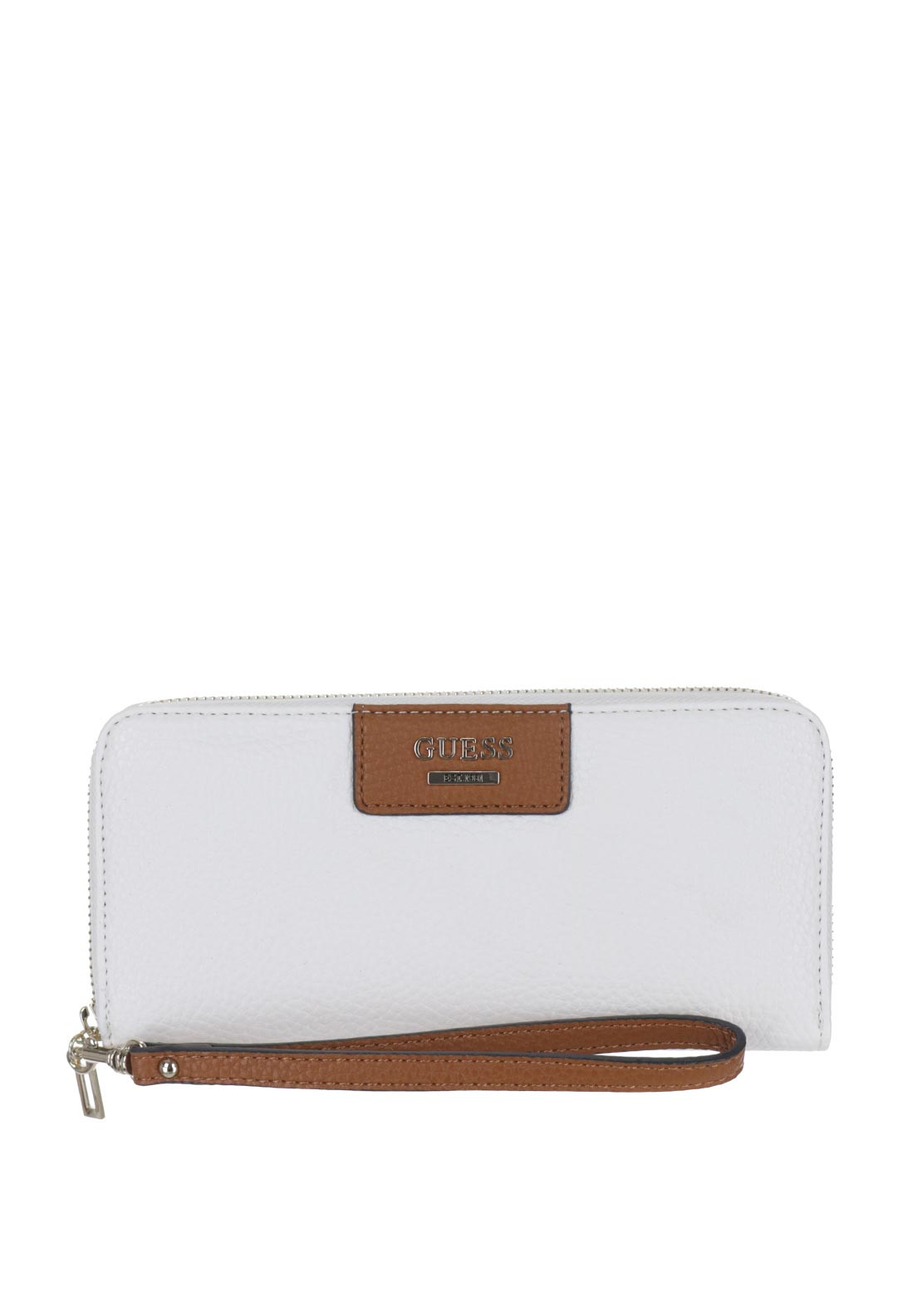 Guess Bobbi Large Wristlet Zip Around Purse, White