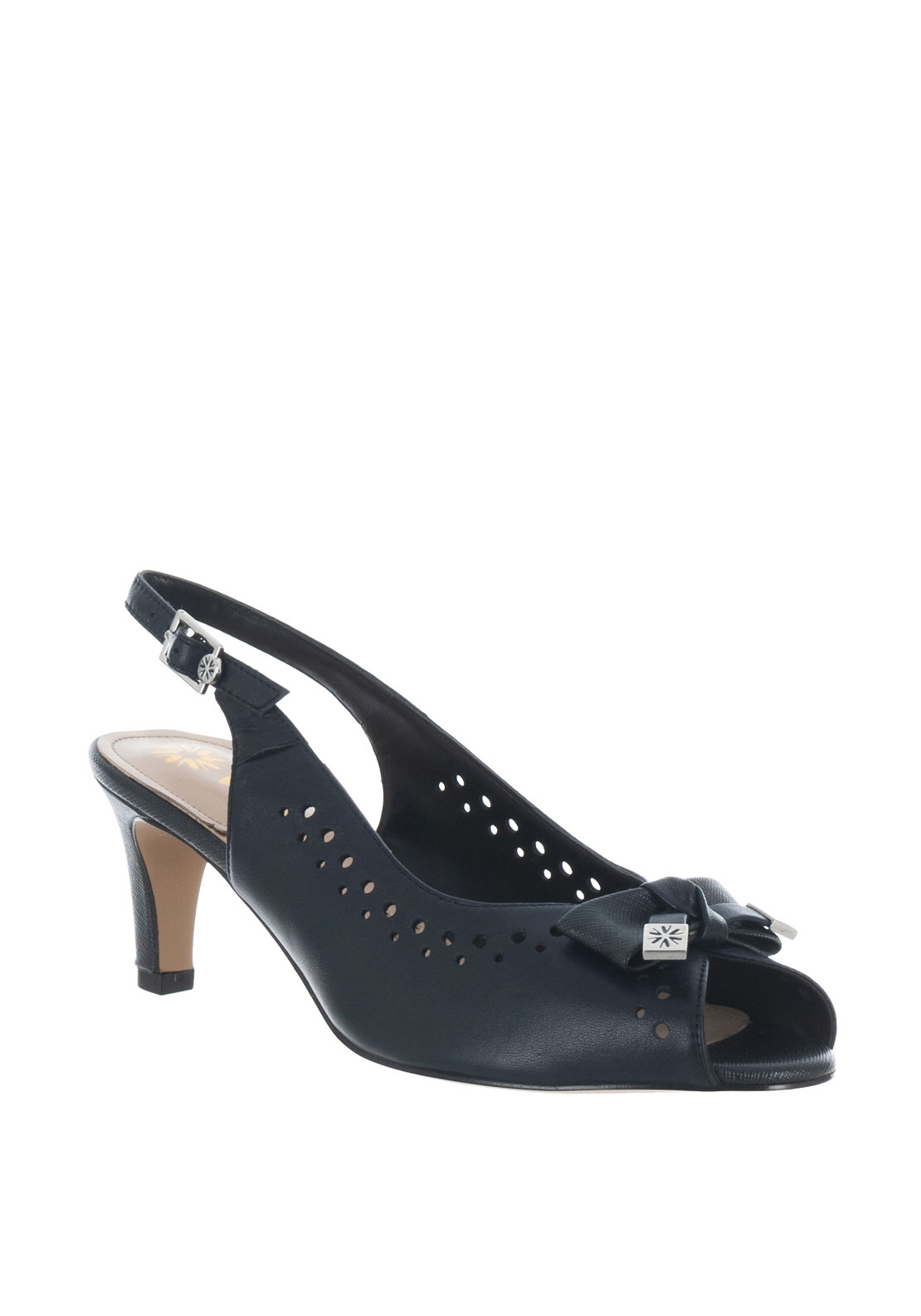 cdcf5ba324 Van Dal Hawkhurst Leather E Fit Heeled Sandals, Navy. Be the first to  review this product