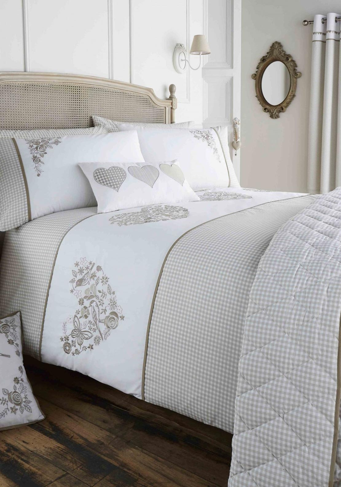 covers gingham stripe le zoom chateau cover pillowcases disc duvet product set