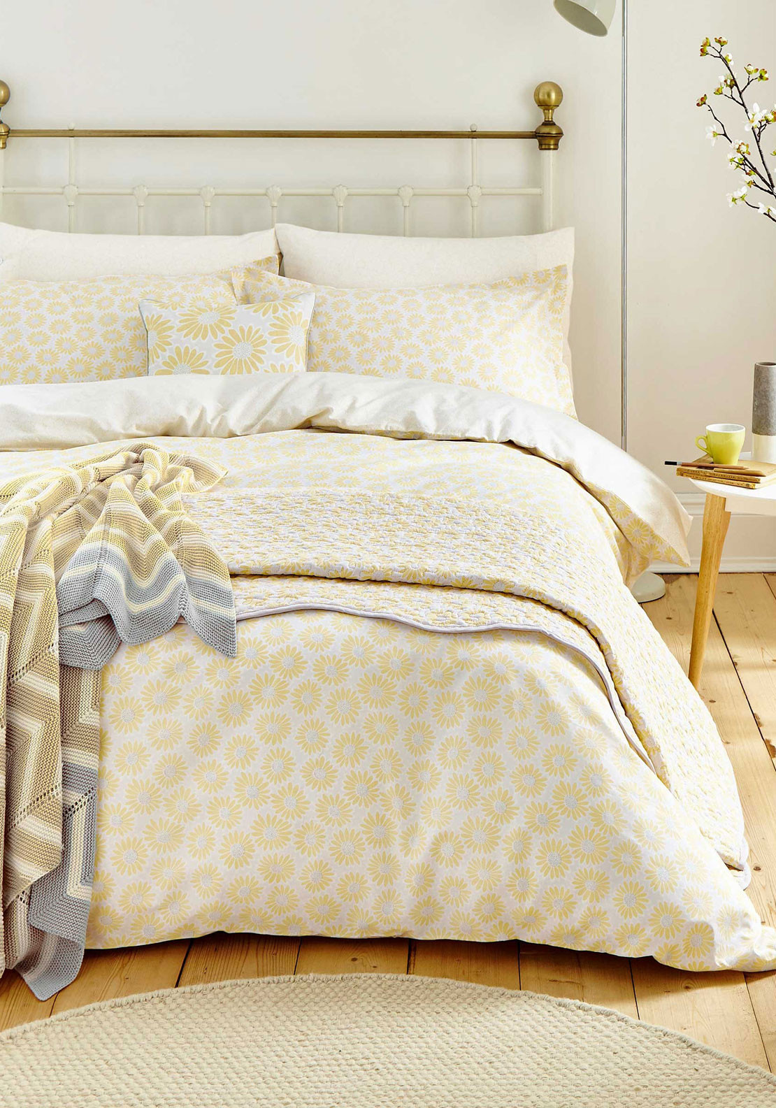 Helena Springfield Daisie Duvet Cover Set, Yellow